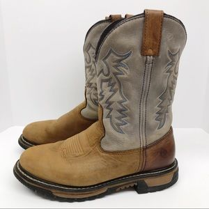 Rocky Leather Boots Pull On Women's Size 10